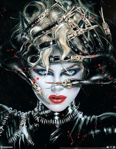 """'Chat Noir' by Olivia De Berardinis, a new officially licensed 'Batman Returns' print release from Sideshow. 17.25"""" x 25.5"""" giclee print on 100% archival heavyweight 300gsm rag art paper, with hand torn edges and embossed seals of authenticity in a..."""