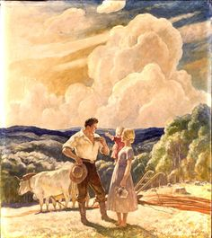 "N. C. Wyeth (1882-1945) ""The Homesteaders"""