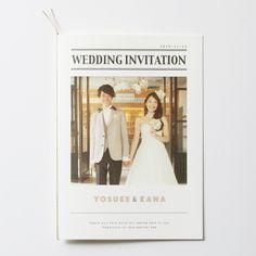 結婚式 招待状 NEWSPAPER|ハッピーリーフの結婚式 招待状