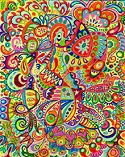 Colored Pencil Funky Abstract Drawing
