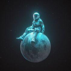 Astronaut Illustration, Illustration Art, Galaxy Wallpaper, Wallpaper Backgrounds, Typographie Inspiration, Astronaut Wallpaper, Space Artwork, Little Planet, Psy Art