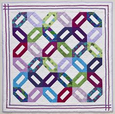 """""""Bright Lights for Baby Lucy"""" quilt by Teresa Stroin {C Publishing}"""