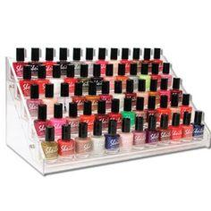 Clear acrylic nail polish rack - great way to display your nail polish collection :) Opi, Essie, Nail Polish Holder, Nail Polish Storage, Essential Oil Bottles, Essential Oils, Clear Acrylic, Acrylic Nails, Nail Rack