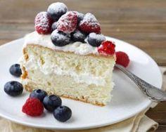 Gâteau minceur vanille et fruits rouges, glaçage au mascarpone