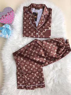 Kpop Fashion Outfits, Girls Fashion Clothes, Clothes For Women, Cute Lazy Outfits, Girly Outfits, Satin Pajamas, Pyjamas, Bella Hadid Outfits, Floral Embroidery Dress