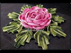 I like it! Crochet Flower Tutorial, Crochet Flower Patterns, Crochet Motif, Irish Crochet, Crochet Designs, Crochet Doilies, Crochet Flowers, Crochet Stitches, 3d Rose