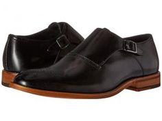 Stacy Adams Dinsmore Plain Toe Monk Strap (Black) Men's Monkstrap Shoes