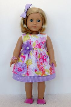 American Girl 18 inch Doll Clothes Dress by TwirlyDollDesign, $24.99