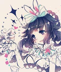 anime girl and clavies image