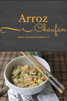 Una receta fácil para usar los restos de arroz. Un clásico de los restaurantes chinos en Chile.