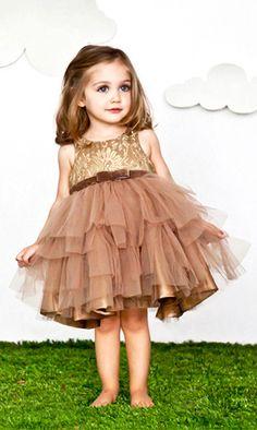 Mischka Aoki Golden dress