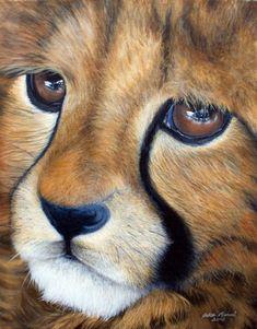 Andrea Michael - Cheetah Cub (Acrylic)