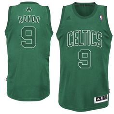 59016fef0 Adidas Rajon Rondo Boston Celtics Winter Court Swingman Jersey - Kelly  Green Air Jordan