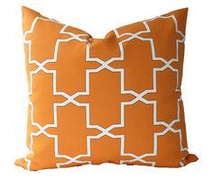 OUTDOOR CUSHION SLIPCOVER with Zipper Orange Tropical Pool image 0 Outdoor Cushion Slipcovers, Patio Pillows, Outdoor Cushions, Outdoor Fabric, Floor Pillows, Orange Pillow Covers, Orange Pillows, Lumbar Throw Pillow, Throw Pillows
