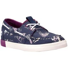 Timberland Women's Newport Bay Canvas Boat Oxford ($58) ❤ liked on Polyvore featuring shoes, oxfords, apparel & accessories shoes, canvas oxford shoes, shock absorbing shoes, timberland shoes, sailor shoes and lace up oxfords