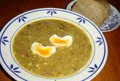 Okurková polévka recept Menu, Soup, Eggs, Breakfast, Menu Board Design, Morning Coffee, Soups, Egg, Menu Cards