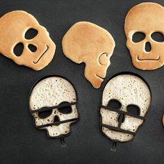 Halloween Skull Pancake Molds, Set of 3