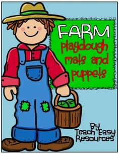 "Farm Garden Playdough Mats and Puppets Set - Teach Easy Resources from Teach Easy Resources on TeachersNotebook.com -  - Create some excitement at the playdough table with this fun set of mats and puppets.  Your students can enjoy a day at the farm growing and selling ""vegetables"" without ever leaving the classroom!"