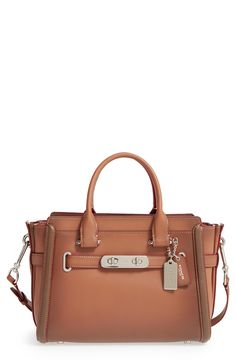 COACH 'Swagger 27' Leather Satchel available at #Nordstrom