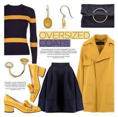 """Chic Oversized Coats"" by littlehjewelry ❤ liked on Polyvore featuring Barbara Bui, Jaeger, Maje, Gucci, Victoria Beckham, contestentry, pearljewelry, oversizedcoats and littlehjewelry"