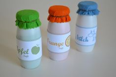 Beverage bottles for the shop - Parenting Sewing For Kids, Diy For Kids, Crafts For Kids, Kids Kitchen Accessories, Childrens Kitchens, Diy Home Furniture, Kool Kids, Plush Pattern, Felt Food