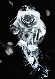 Smoke Rose by WizardOfWizardry on DeviantArt Skull Rose Tattoos, Skull Girl Tattoo, Skull Tattoo Design, Body Art Tattoos, Cholo Art, Chicano Art, Rauch Tattoo, Photoshop Art, Actions Photoshop