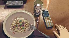 No meat Pasta dish - 5 Centimeters Per Second #AnimeFood  https://www.facebook.com/DeliciousAnimeFood/