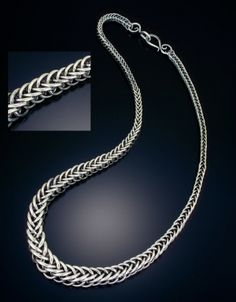 Tapered Ribbon Necklace