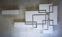 Chris Ruhe Meubelkunst #fuorisalone #lambrate #din2016 #hanging #cabinet #white #blocks #pinDin