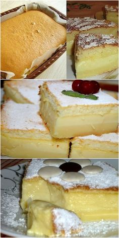 The smartest and most delicious cake!- Самое умное и самое вкусное пирожное! the cake is actually smart, during baking it is itself divided into layers! And the taste … lick your fingers! Fun Desserts, Delicious Desserts, Yummy Food, Healthy Desserts, Easy Cookie Recipes, Cake Recipes, Appetizer Buffet, Asian Cake, Dessert Shots