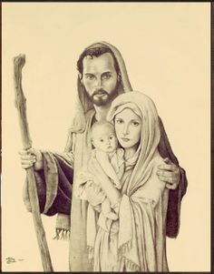 """""""Purest Love"""" The Holy Family, Joseph was their protector and provider for the Blessed Virgin Mary and Baby Jesus"""