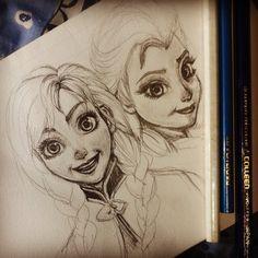 FROZEN by kantist Disney Dream, Disney Love, Disney Frozen, Disney Princess Warriors, Warrior Princess, Old Disney, Disney Art, Disney And Dreamworks, Disney Pixar