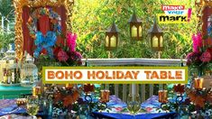 Gel Press Boho Holiday Tablescape Ideas by Mark Montano
