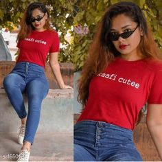 Tshirts Casual Women's Cotton Printed T-Shirt Fabric: Cotton  Sleeves: Short Sleeves Are Included Size: S- 34 in, M- 36 in, L- 38 in, XL- 40 in , XXL - 42 in  Length: Up to 28 in Type: Stitched Description: It Has 1 Pieces Of Women's T-shirts Work: Printed Sizes Available: S, M, L, XL, XXL   Catalog Rating: ★3.9 (690)  Catalog Name: Adrika Stylish Womens Cotton Printed T-Shirts Vol 1 CatalogID_201539 C79-SC1021 Code: 512-1550137-