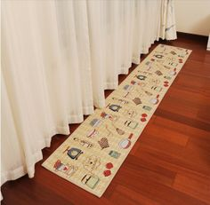 Rustic floor mat for bedroom living room kitchen corridor slip-resistant cotton blend fabric carpet 450*1200MM