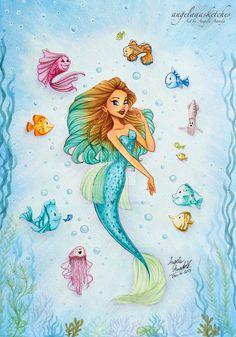 Mermaid drawings, mermaid cartoon и mermaid illustration. Fantasy Mermaids, Unicorns And Mermaids, Real Mermaids, Mermaids And Mermen, Paintings Of Mermaids, Mermaid Illustration, Illustration Art, Mermaid Pictures, Mermaid Images