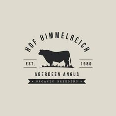 Logo+website for a organic aberdeen angus cattle farm classic and remarkable Cow Logo, Farm Logo, Boeuf Angus, Hereford Cattle, Company Profile Design, Barbacoa, Restaurant Logo Design, Text Frame, Cattle Farming
