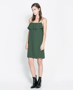 ZARA - NEW THIS WEEK - DRESS WITH RUFFLE NECKLINE
