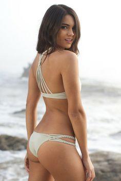 Frankie's Bikinis 2014 - Mary Jane Bikini Bottom / Gray - $88