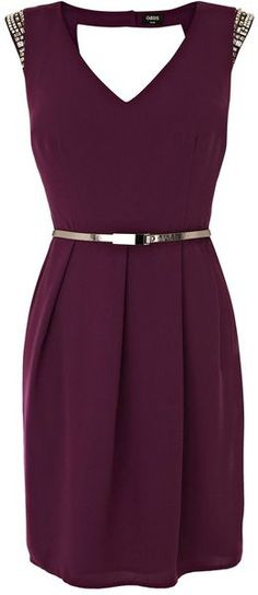 Oasis Purple Embellished Holly Shift Dress
