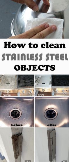 Learn how to clean stainless steel objects.