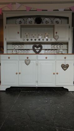 Large Ducal Pine Dresser Sideboard Kitchen Unit Hand Painted Shabby Chic | eBay