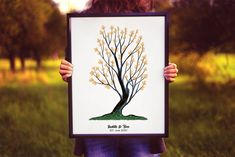 Instant Download Fingerprint Tree Judith wedding thumbprint   Etsy Wedding Fingerprint Tree, Fingerprint Art, Bridal Shower Decorations, Birthday Party Decorations, Presentation Pictures, Gift Drawing, Party Gifts, Etsy, Party Giveaways