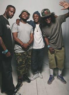 black hippy: ab-soul, schoolboy q, kendrick lamar, & jay rock New Hip Hop… Mode Old School, New School Hip Hop, Love And Hip, Love N Hip Hop, I Love Music, Music Is Life, Hip Hop Artists, Music Artists, Hiphop
