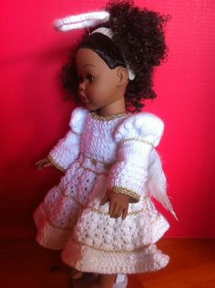 This little angel outfit is compatible with American Girl dolls.
