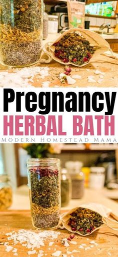 Pregnancy Bath Soak - Herbal Bath with Magnesium Flakes | Modern Homestead Mama