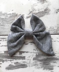 Heather Gray Madeline Bow