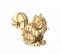 Squirrel 3D wooden puzzle