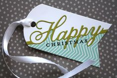 Introducing Everyday Happiness & Year Round Happiness Posted on November 2013 by laurafadora Christmas Paper Crafts, Christmas Tag, Holiday Gift Tags, Embossed Cards, Xmas Cards, Gift Cards, Winter Cards, Card Tags, Making Ideas