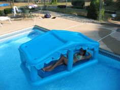 Simply inflate this innovative pool float and enjoy the outdoors with no concern for the Sun. The surface is a very rigid, long lasting PVC vinyl. The base is open. Ideal if seeking unique pool accessories or presents.